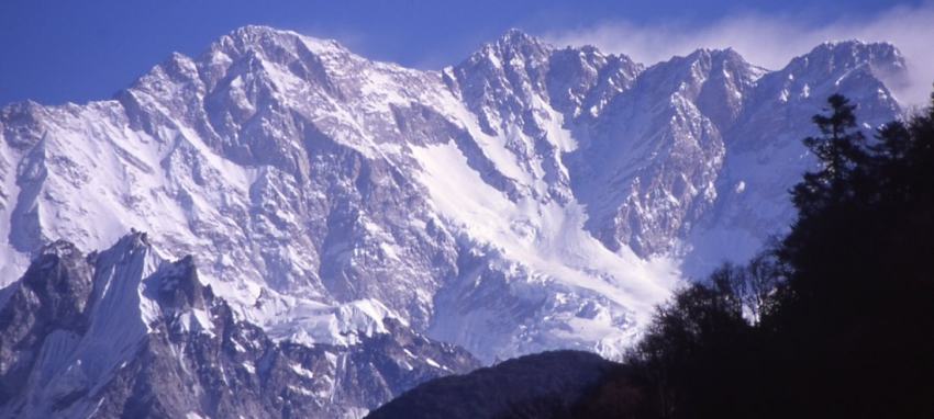 South face of Mt. Kanchenjunga