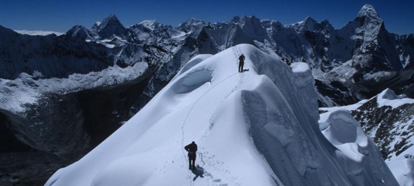 Climbing Psland Peak