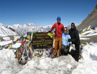 At Thorang La Pass on clear day