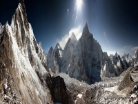 Mt. Everest and Khumbu Ice-fall Panorama