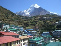 Mt. Thamsherku (View from Namche Bazaar)