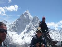 At the top of Nangkarsang Peak on Acclimatization day
