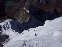 Climbing Lobuche East