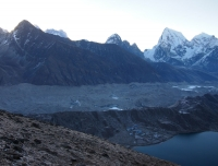 Gokyo Lake and Ngozumpa Glacier From Gokyo Ri