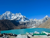 Gokyo Lake and Renjo-La pass in distance