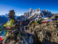 Prayer flag at Gokyo Ri