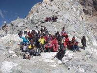 Group at Cho La top
