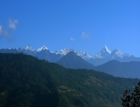view of Helambu and jugal himalayan range
