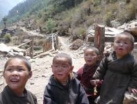 Kids near Lho village