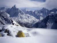 View from Lobuche advance Base Camp