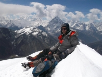 On the summit of Lobuche East