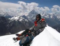 On the summit of Lobuche East
