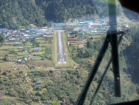 Lukla Airport from Cockpit