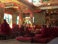 Monks at Thupten Choling Gompa