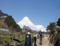 Mt. Manaslu from Lho village