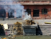 Open crematorium at Pashupatinath