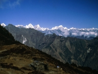 Himalayan panorama from Tharepati